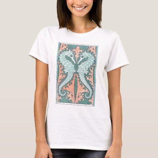 Art Nouveau Seahorses T-Shirt