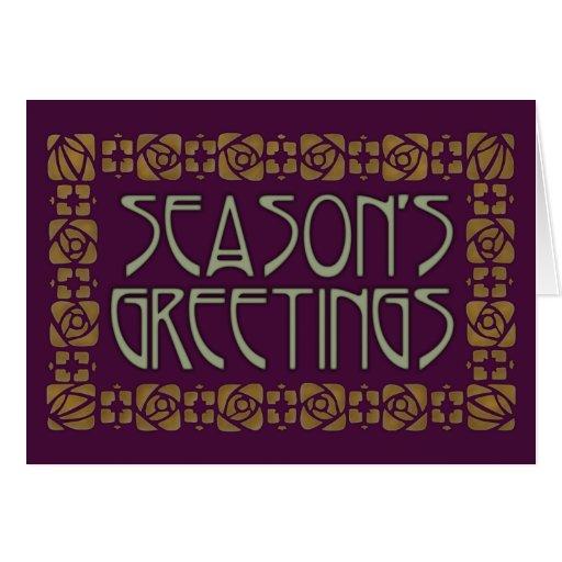 Art Nouveau Season's Greetings Greeting Card