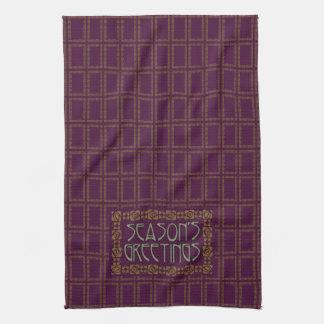 Art Nouveau Season's Greetings Kitchen Towel