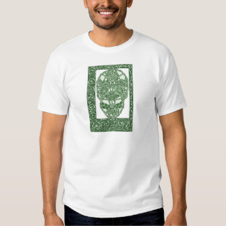 Art Nouveau Skull Green Day of the Dead T-Shirt