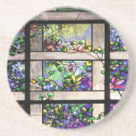 Art Nouveau Stained Glass Art Coaster