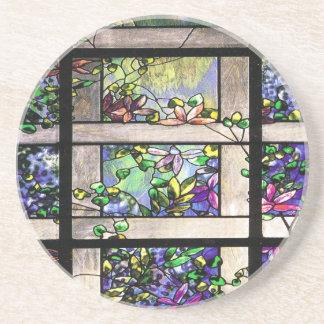 Art Nouveau Stained Glass Art Coaster