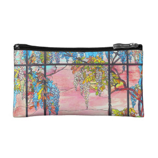 Art Nouveau Stained Glass Flowers Floral Bag