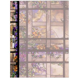 Art Nouveau Stained Glass Flowers Lattice Dry Erase Board