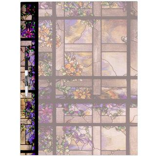 Art Nouveau Stained Glass Flowers Lattice Dry-Erase Board