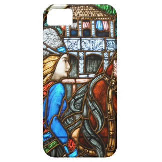 Art Nouveau Stained Glass Horseman iPhone SE/5/5s Case