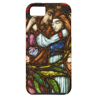 Art Nouveau Stained Glass Lovers iPhone SE/5/5s Case