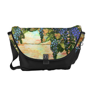 Art Nouveau Stained Glass Tiffany Flowers Floral Courier Bag