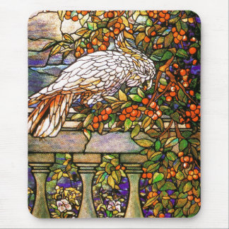 Art Nouveau Stained Glass Tiffany Flowers Floral Mouse Pad