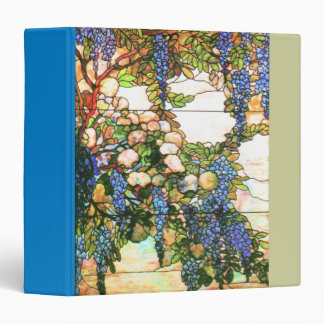 Art Nouveau Stained Glass Tiffany Nature 3 Ring Binder