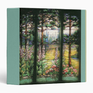 Art Nouveau Stained Glass Tiffany Nature Binder