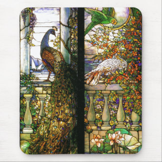 Art Nouveau Stained Glass Tiffany Nature Mouse Pad