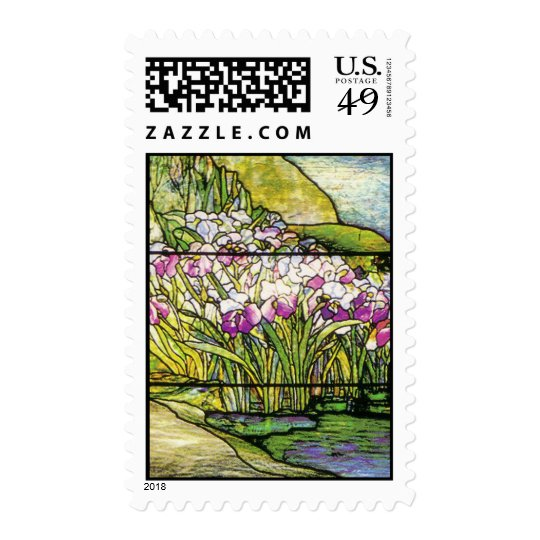 Art Nouveau Stained Glass Tiffany Nature Postage
