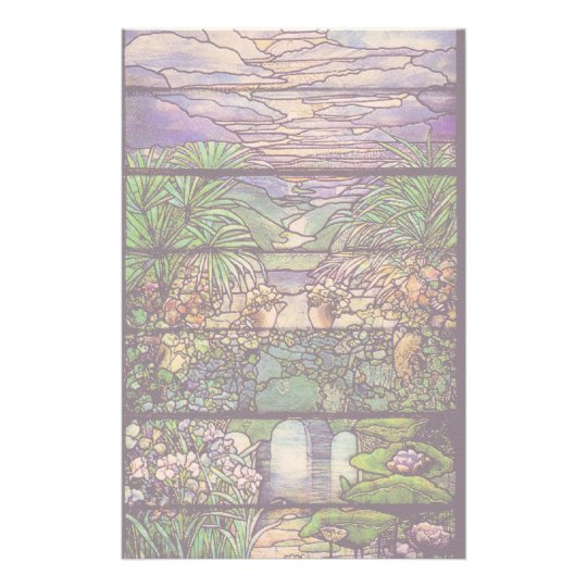 Art Nouveau Stained Glass Tiffany Nature Stationery