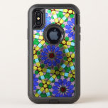Art nouveau stained glass window OtterBox defender iPhone XS case