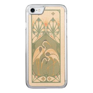 Art Nouveau Storks Carved iPhone 7 Case