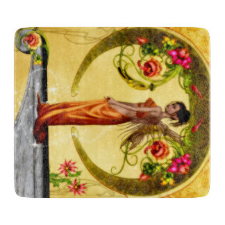 Art Nouveau Style Fairy Cutting Board