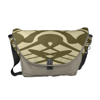 Art Nouveau Style Pattern in Beige and Brown. Messenger Bag