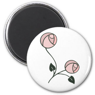 Art Nouveau Style Roses in Pink and Mauve Magnet