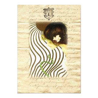 Art Nouveau ~ Sun Girl on French Letter Card
