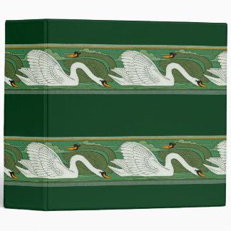 Art Nouveau Swan Birds Wildlife Animals Binder