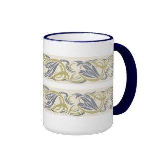 Art Nouveau Swirls Ringer Mug
