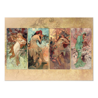 Art Nouveau The Four Seasons Card