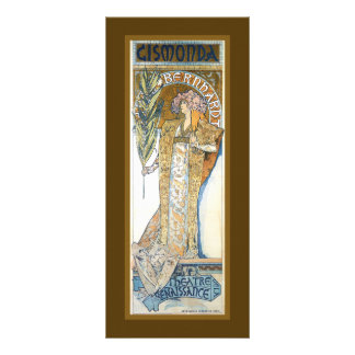 Art Nouveau Theatre bookmark Rack Card