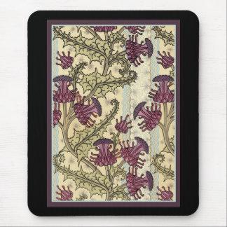 Art Nouveau Thistle flower Mouse Pad