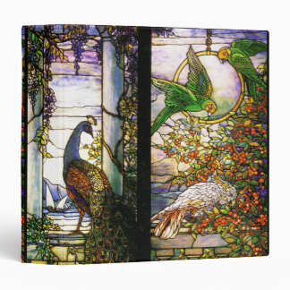 Art Nouveau Tiffany Stained Glass Nature 3 Ring Binder