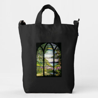Art Nouveau Tiffany Stained Glass Nature Baggu Bag Duck Canvas Bag