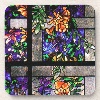 Art Nouveau Tiffany Stained Glass Nature Coaster