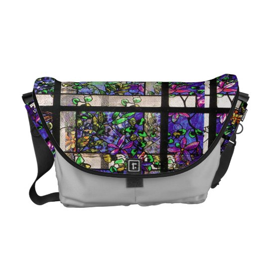 Art Nouveau Tiffany Stained Glass Nature Courier Bag