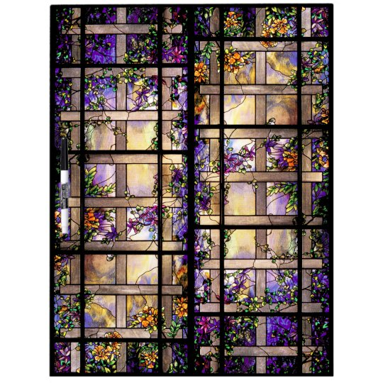 Art Nouveau Tiffany Stained Glass Nature Dry Erase Board