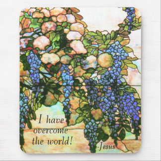 Art Nouveau Tiffany Stained Glass Nature Mouse Pad