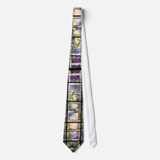 Art Nouveau Tiffany Stained Glass Nature Tie