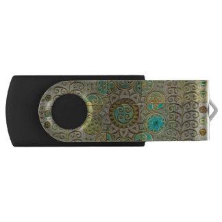 Art Nouveau tile USB Flash Drive