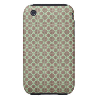 Art Nouveau Tiled Geometric Abstract iPhone 3 Tough Cover