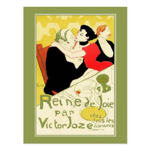 Art Nouveau: Toulouse Lautrec - Reine de Joie Post Card
