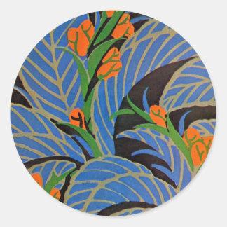 Art Nouveau Tropical Night - Sticker
