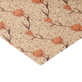 Art Nouveau Tulip Damask, Coral and Beige Tissue Paper