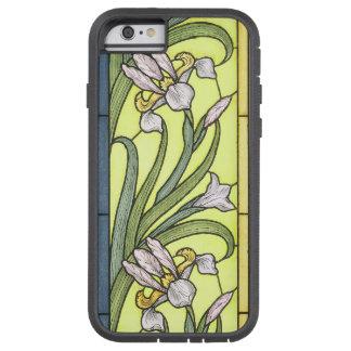 Art Nouveau Twenties Iris Flowers Floral Garden Tough Xtreme iPhone 6 Case