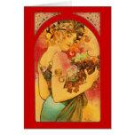 Art Nouveau  Valintine design card