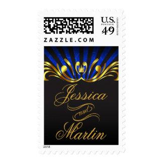 Art Nouveau Vegas | gold blue Stamp