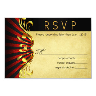 Art Nouveau Vegas RSVP | gold red Card