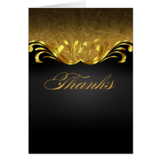 Art Nouveau Vegas Thank You | gold black Card