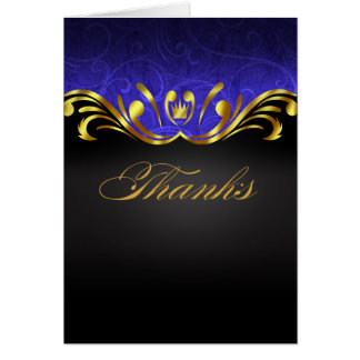 Art Nouveau Vegas Thank You | gold blue Card