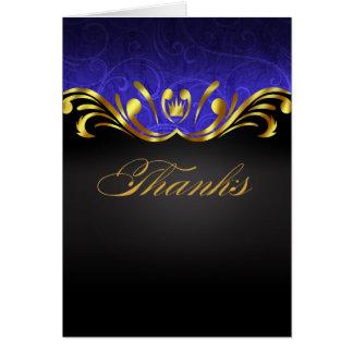 Art Nouveau Vegas Thank You | gold blue Card