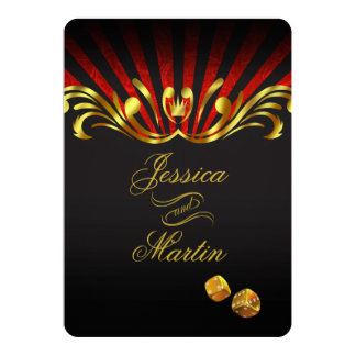 Art Nouveau Vegas Wedding | gold red Card