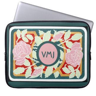 Art Nouveau Vine w/Monogram Computer Sleeves